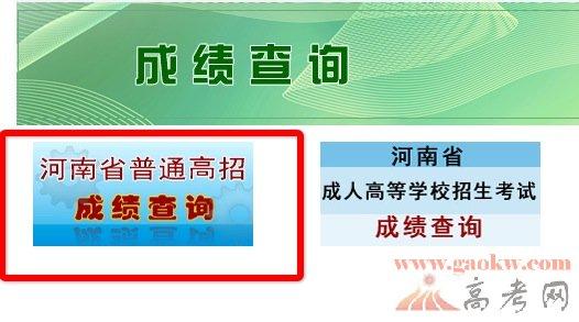 河南省招生办公室2014高考成绩查分入口-河南