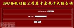 安徽财经大学2015年美术类校考成绩查询