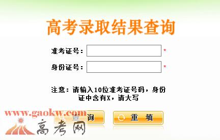 2016陕西高考专科录取查询入口