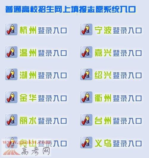 2017年浙江高考志愿填报入口:浙江省教育考试院