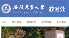 安徽农业大学教务处,教务管理系统