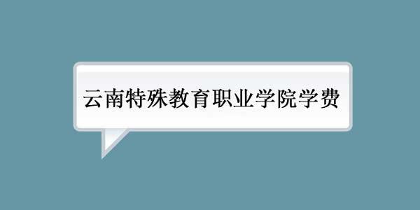 云南特殊教育职业学院学费多少
