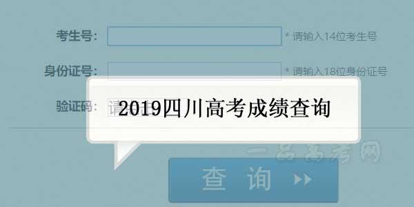 2019四川高考成绩查询时间