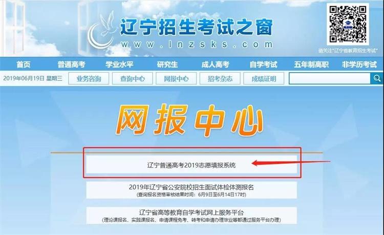 2019辽宁高考志愿填报系统