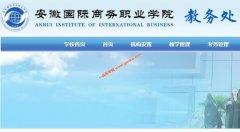 安徽国际商务职业学院教务处,教务管理系统