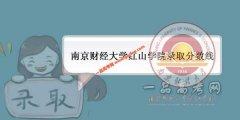 南京财经大学红山学院2019录取分数线(附2017-2018年分数线)