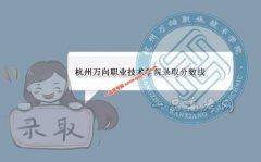 杭州万向职业技术学院2019录取分数线(附2017-2018年分数线)