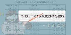 2019年黑龙江二本A段录取院校投档分数线(文科/理科)