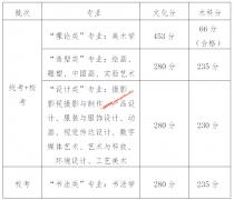 广州美术学院2019年广东文化,专业录取分数线(附录取规则)