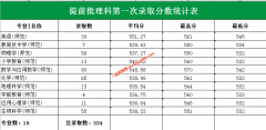 广州大学2019年提前批师范专业录取分数线