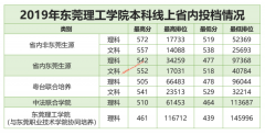 东莞理工学院2019年广东省内本科线上投档线公布-文科大热