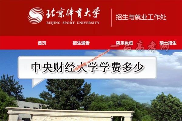 北京体育大学学费多少