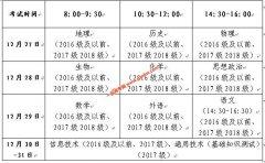 山东省2019年冬季普通高中学业水平考试报名工作(含考试时间及考试科目)