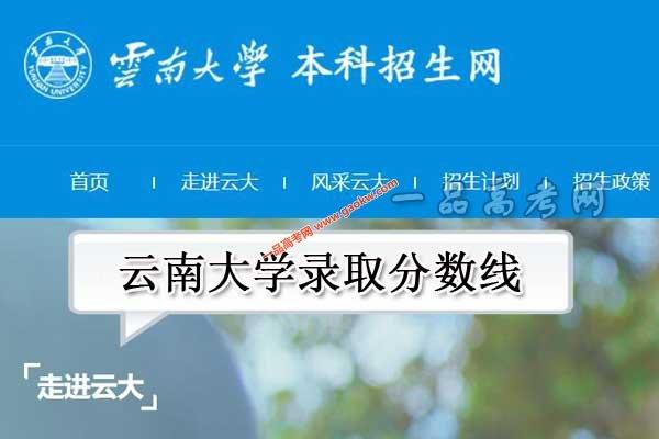 云南大学录取分数线