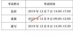 2020四川省调整艺术类招生美术与设计类、书法学(毛笔)专业统考时