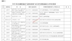 2020年在湖南民航招飞院校招收飞行学生初检等有关工作