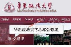 华东政法大学2020年录取分数线(附2017-2019年分数线)