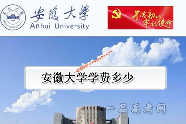 安徽大学学费多少