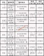 2020全国体育单招考试时间,考点安排(全国,分区统考)