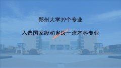 郑州大学39个专业入选国家级和省级一流本科专业