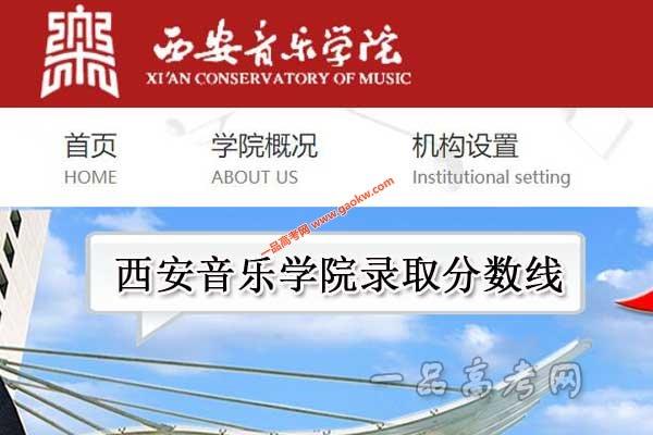 西安音乐学院录取分数线