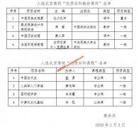"""中央民族大学8个项目入选北京高校""""优质本科课程""""和 """"优质本科"""