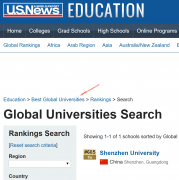 U.S.News2020世界大学计算机科学排名发布 深圳大学跃居世界第68