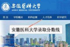 安徽医科大学2020年录取分数线(附2017-2019年分数线)