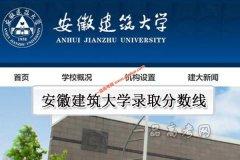 安徽建筑大学2019年录取分数线(附2017-2018年分数线)