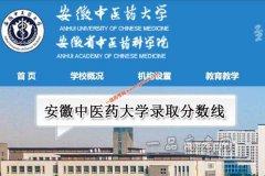 安徽中医药大学2020年录取分数线(附2017-2019年分数线)