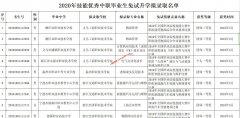 浙江省教育考试院关于2020年技能优秀中职毕业生免试升学拟录取名单公示的公告