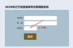 2020年辽宁省普通高考志愿填报系统