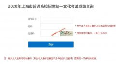 <strong>2020年上海高考成绩查询入口已经开通</strong>