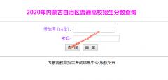 2020年内蒙古高考查分系统入口:内蒙古招生考试信息网
