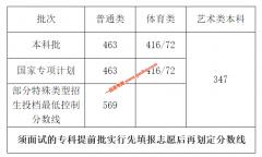 2020年海南高考成绩本科批普通类分数线463分