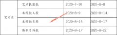 2020年重庆普通高校招生艺术提前批开始投档