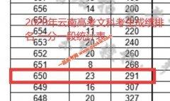 2020年云南高考成绩650以上考生有多少 文科291人 理科2742人