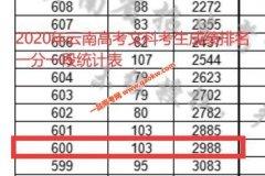 2020年云南高考成绩600以上考生有多少 文科2988人 理科11678人