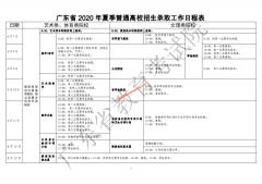 2020年广东高考录取时间表