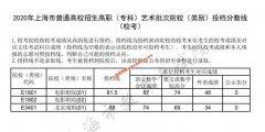 2020上海高职(专科)艺术,体育类院校(类别)投档分数线(艺术校考)