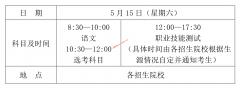海南2021年高职对口单招考试时间:5月15日进行