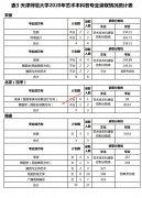 天津师范大学2020年艺术本科各专业录取情况统计表