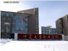 宁夏大学新华学院是几本